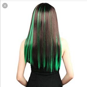 Accessories - Green clip in hair extensions